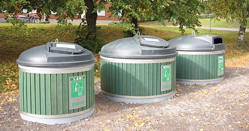 Nettoyage de container enterré
